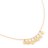 18k Disc Necklace