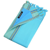 Kikoy Beach Towel in Blue Lagoon