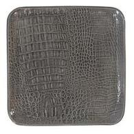 Grey Croc Ceramic Small Square Plate