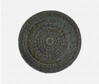 Blue Pheasant, Maddox placemat,Round Mixed Blue/Green Placemat, Twisted Abaca