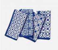 20''x20'' Napkin, Blue Mixed Pattern Cotton