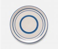 Blue Striped earthenware Dinner Plate