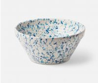 Large Mixed Blue Spongeware Serving Bowl, Earthenware