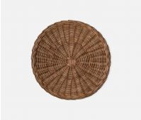 Round Honey Rattan Placemat