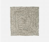 Mixed Gray Square Placemat, Raffia