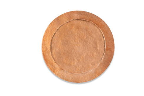 """Elevate your dinner parties with Ben & Lael's Copper Chargers. With a 12"""" diameter, it is large enough to accompany majority of dishes."""