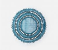 Abaca Deep Blue Round Placemat