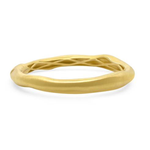 Brushed gold bangle