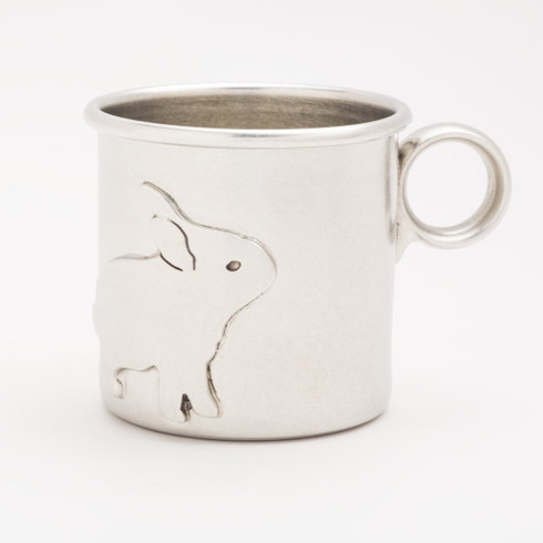 Pewter Rabbit Baby Cup