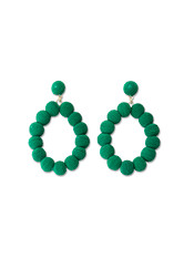 Emerald Woven Ball Earrings
