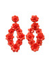 Red Flower Sequin Earrings