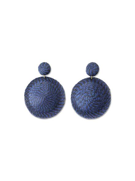 Woven Disc Earring