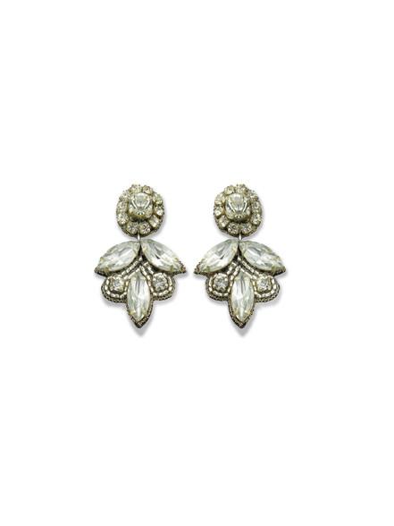 Crystal Mini Leaf Earring