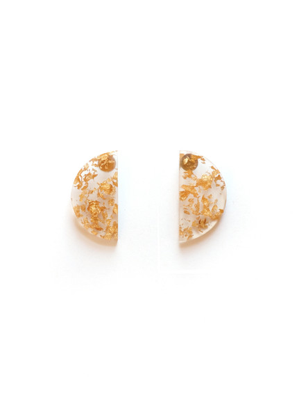 Resin and Gold Flecked Earrings