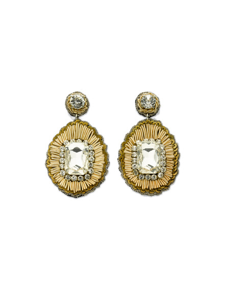 Champagne Stone Earrings