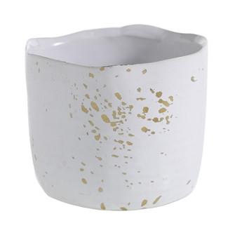 White glaze with gold