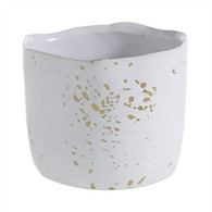 White glaze with gold