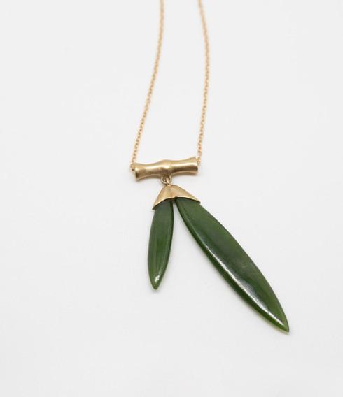 Jade Bamboo Pendant