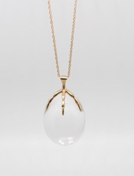 Rock Crystal Egg Necklace