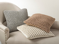 Knitted Design Pillow