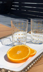 Gold Polka Dots Tea Glass