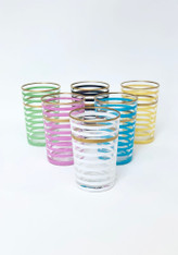 Multi Color Stripes Tea Glass