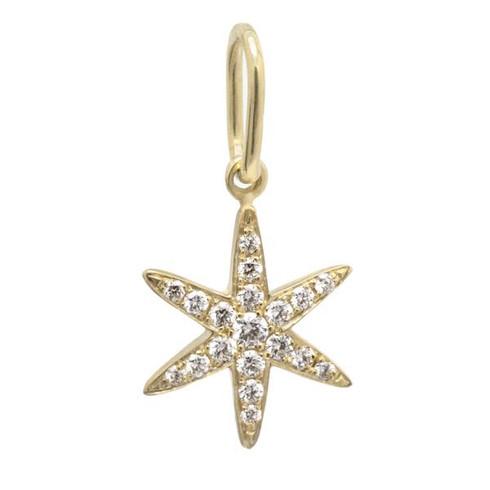 Pave Diamond Star Charm