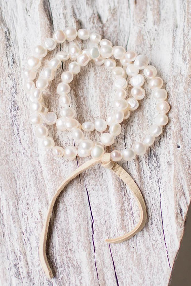 fresh water pearl stretchy bracelets