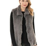 Knit faux fur vest