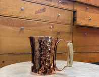Ben Caldwell hand makes each copper Moscow mule mug with a stunning horn handle(which is naturally shed)  It will compliment any bar and truly elevate your cocktail experience.