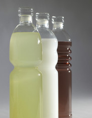 Beautifully crafted glass water bottles with glass stopper designed to make drinking easy! They are lightweight and come in a couple different designs.