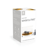 Gentler than ice, Whiskey Stones cool down your favorite spirits to take the edge off without closing down the flavors. Chill your drink without diluting the taste with the Whiskey for Two Set.  2 non-lead crystal tumblers 6 Whiskey Stones beverage cubes Non-porous, flavor and odorless