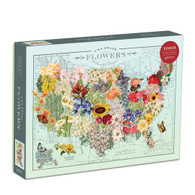 USA State FLowers 1,000 Piece Puzzle
