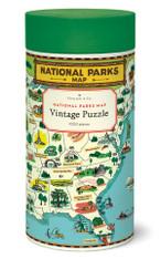 National Parks Map 1,000 Piece Vintage Puzzle