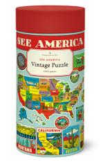 See America 1,000 Piece Vintage Puzzle