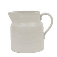 Small White Stoneware Pitcher