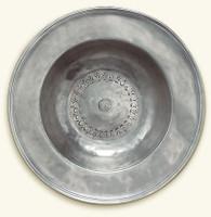 Pewter Wide Rimmed Bowl Large