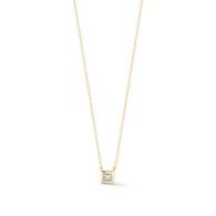 Millie Ryan Single Princess Cut  14Kg Necklace Yellow Gold