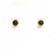 Small Emerald Studs