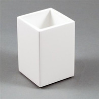 White Lacquer Brush Holder