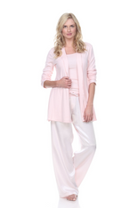 Amelia Knit Cardigan Pictured With Charlie Racerback Tank & Jolie Satin Pant