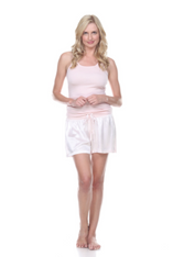 Mikel Satin Boxer Short With Draw String Pictured With Charlie Racerback Tank
