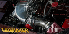 LegMaker Carbon Fiber Short Ram Intake 5.7 6.1 With Whipple Supercharger - Front Inlet