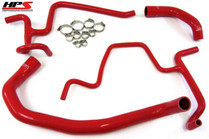 HPS Reinforced Silicone Radiator Hose Kit For Dodge Charger R/T 5.7L (2006-2010) - Red