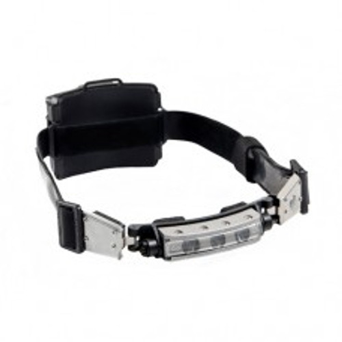 Compact, powerful wide angle LED headlamp with adjustable tilt