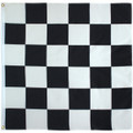 2' x 2' Black and White Sewn Checkered Racing Flag