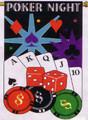 Poker Night Garden Flag