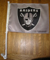 Raiders Grey Car Flag
