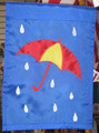 Umbrella in the Rain Mini Garden Flag