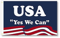 """Yes We Can"" 3'x5' nylon flag with header & grommets"